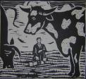 Man and Cows